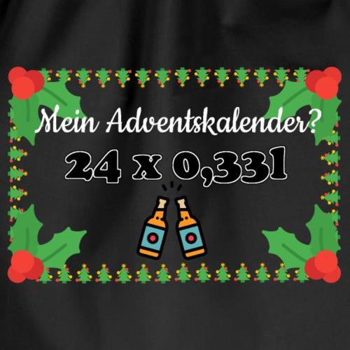 Mein Adventskalender? 24 x 0,33l ! - Turnbeutel