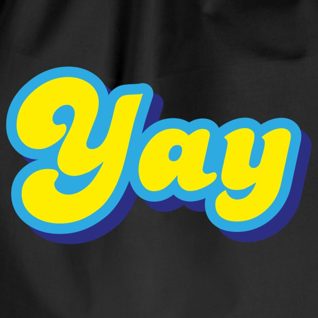 YAY in Yellow and Blue
