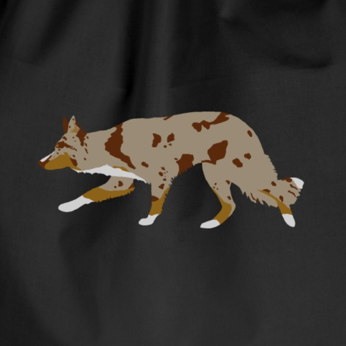 Border Collie (Red Merle Tri) - Drawstring Bag