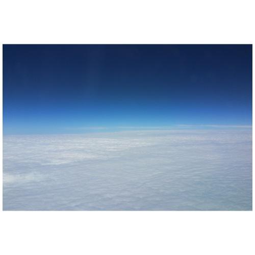 blauer Himmel, weiße Wolken - Flug über Australien - Turnbeutel