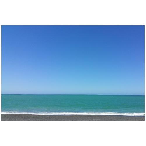Napier Neuseeland - blauer Himmel, Meer türkis - Turnbeutel