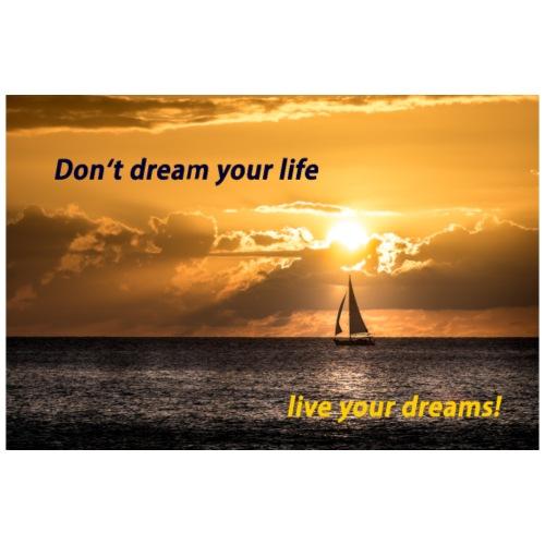 Geschenkidee Poster Sonnenuntergang Träume leben