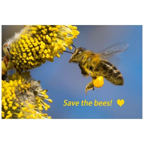 Geschenkidee Biene Flug save the bees Tierschutz