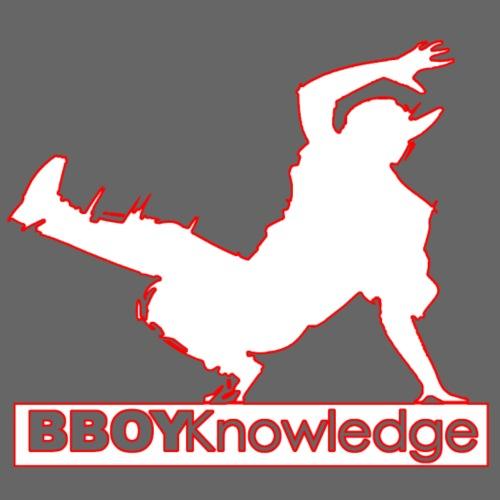 Bboy Knowledge Logo Variation Red&White