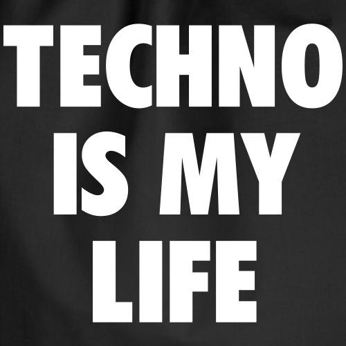 Techno is my life - Drawstring Bag