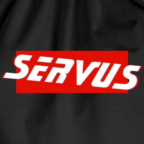 SERVUS - they say in Bavaria - Drawstring Bag