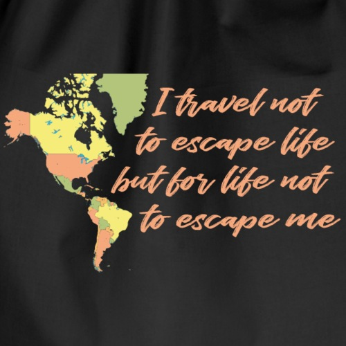 All in Life Traveling Map with Phrase - Sacca sportiva