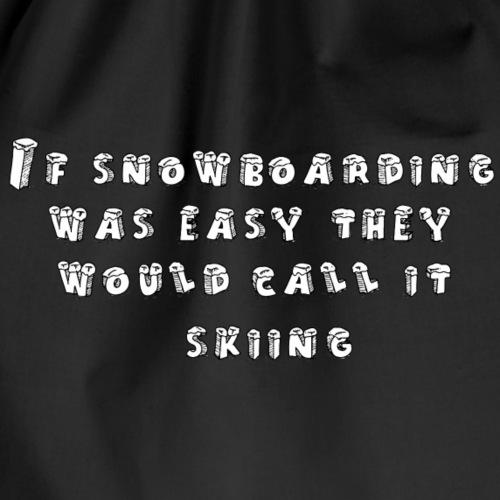If snowbording - Worek gimnastyczny