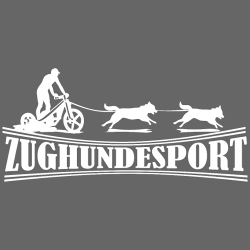 Zughundesport Trike Aufdruck weiß - Turnbeutel