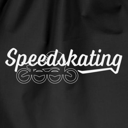 Speedskating Schrift mit Schuh - Turnbeutel