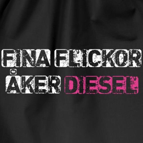 Fina flickor Åker Diesel - Gymnastikpåse