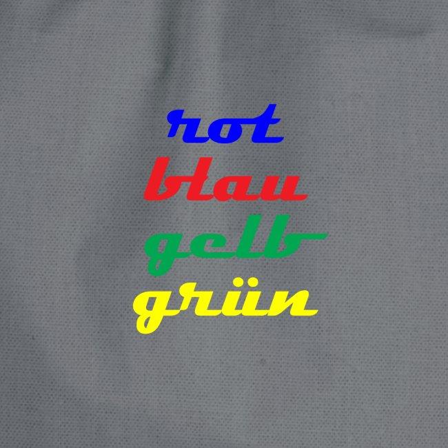 rot gelb blau gruen
