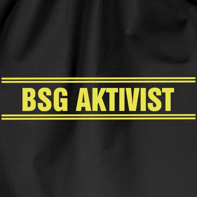 BSG Aktivist Schriftzug