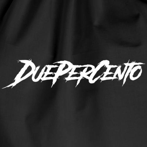 DuePerCento Scritta Bianca - Sacca sportiva