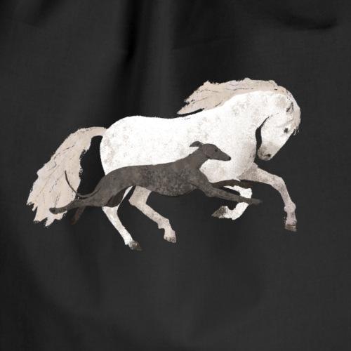 Galgo und Pferd - Turnbeutel