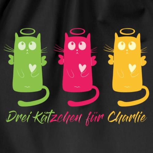 """Katze, """"Drei Kätzchen für Charlie"""" - Turnbeutel"""