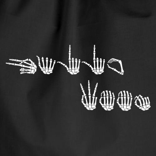 HALLOWEEN hvite skjelett-håndalfabeter (TEGNSPRÅK) - Gymbag
