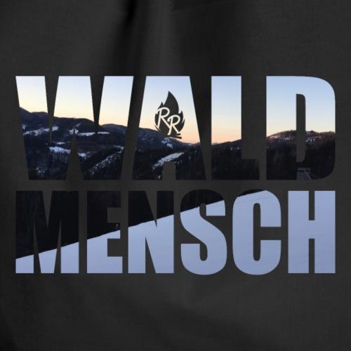 Wald Mensch Schnee - Turnbeutel