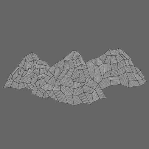 3 Berge Abstrakt - Turnbeutel