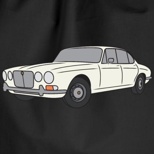 70s Jaguar XJ English White - Simple - Drawstring Bag