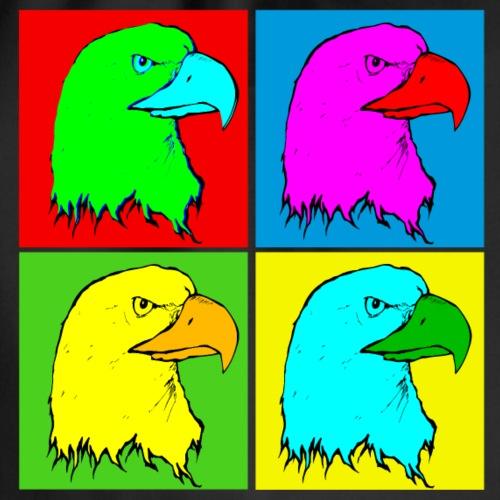 Adler Adlerkopf Vier Farben TShrit Vogel Geschenk - Turnbeutel