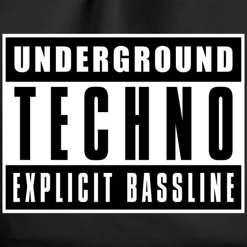 Underground Techno - Drawstring Bag