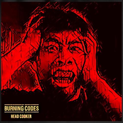 Head Cooker BLACK BACKGROUND - Burning Codes - Drawstring Bag