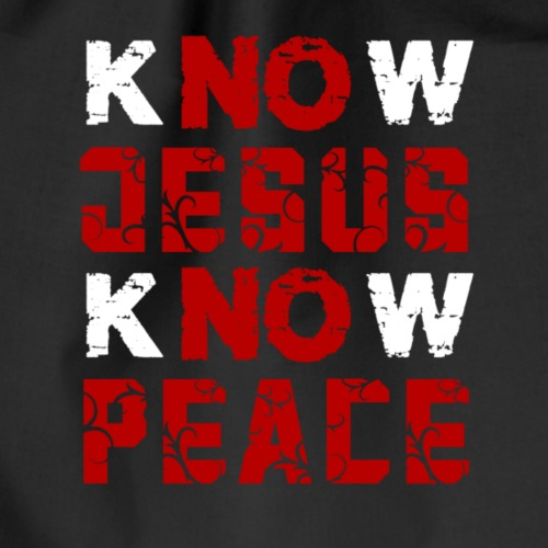 Know Jesus Know Peace (Flower Design) - Turnbeutel