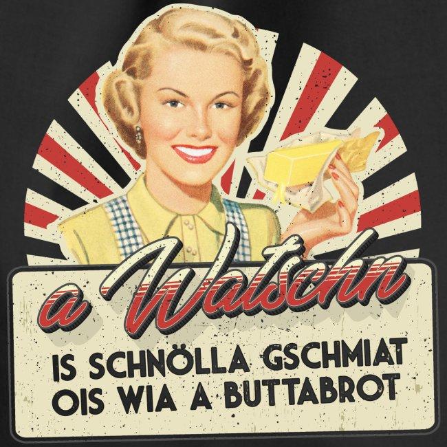 Vorschau: A Watschn is schnö gschmiat - Turnbeutel