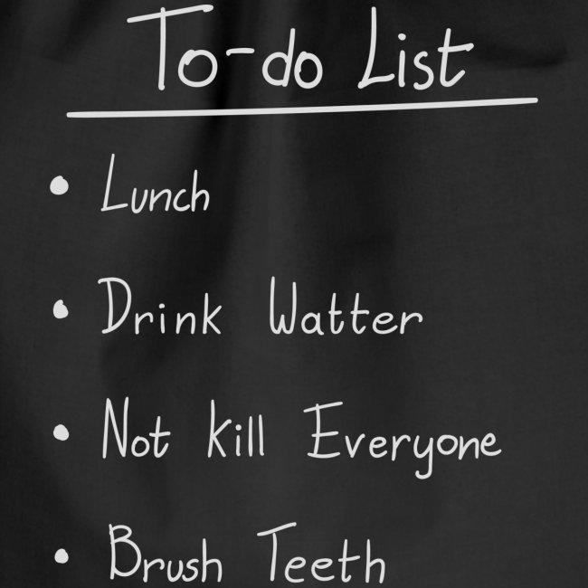 To do list white