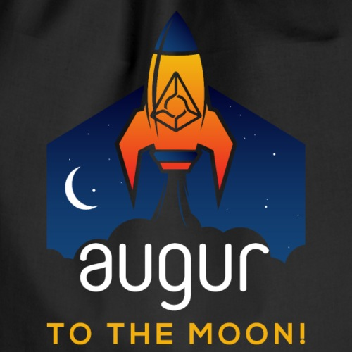 Augur REP Logo to the Moon REP Crypto Currency - Turnbeutel