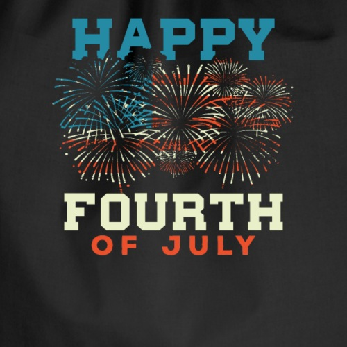 Feuerwerk Happy Fourth Of July - Drawstring Bag