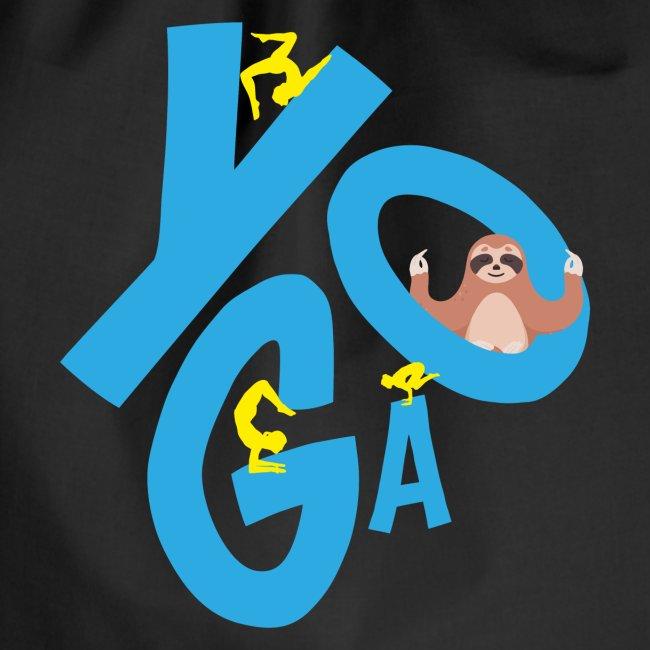 Yoga und Meditation Sonnengruß Namaste Faultier