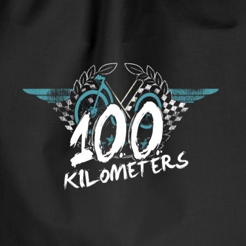 Tretroller 100 km Belohnungsmotiv - Turnbeutel