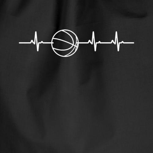 Basketball Herzschlag EKG - Turnbeutel