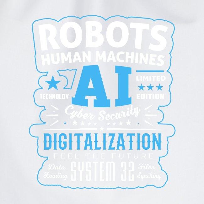 Robots Human Machine Ai Cyber Security