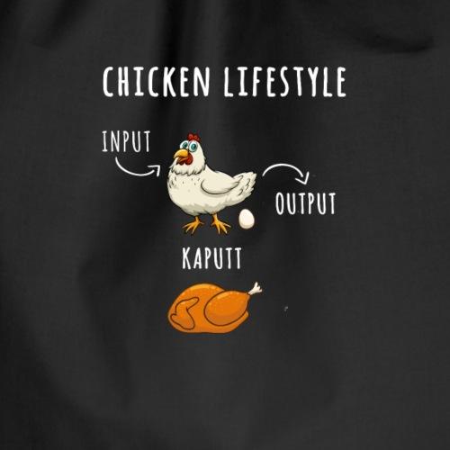 Lustiges Bauern Hühner Shirt - Drawstring Bag