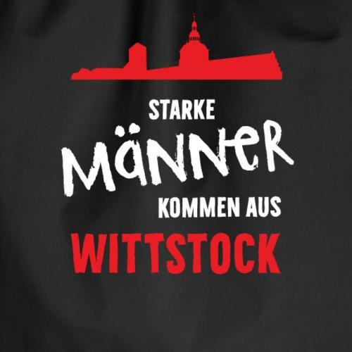 Starke Männer kommen aus Wittstock - Turnbeutel