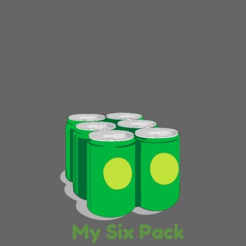 My Six Pack tshirt print - Drawstring Bag