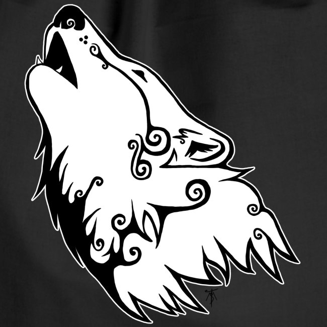Le Loup de Neved (version contour blanc)