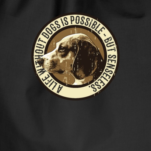 Dog lover T-shirt - Turnbeutel