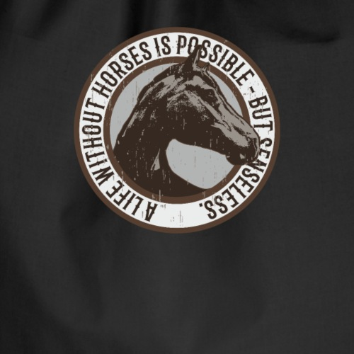 Horse lover T-shirt - Turnbeutel