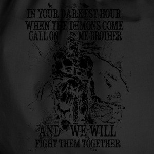 In your darkest hour call on me (dark) - Drawstring Bag