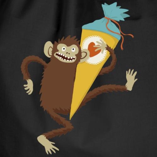 Affe mit Schultüte - Turnbeutel