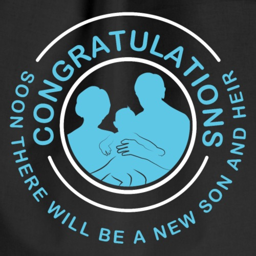 Congratulations - Soon there will be a new son - Turnbeutel