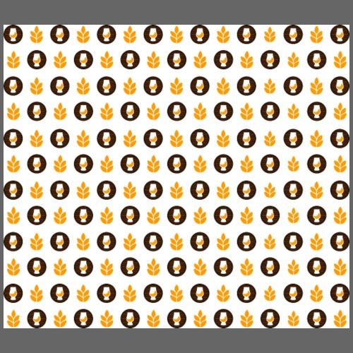 Whisky Muster weiß - Turnbeutel