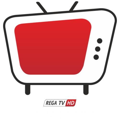REGA-TV: Bildschirm, Schrift Weiss - Turnbeutel