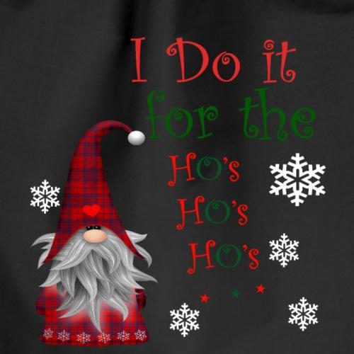 I Do it for the Ho's Funny Santa Christmas T-Shirt - Sac de sport léger