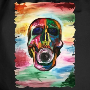 Colorful screaming skull - Gymtas