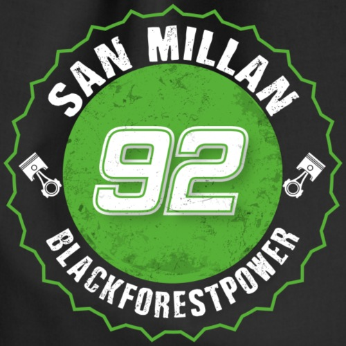 San Millan Blackforestpower 92 rund - Turnbeutel